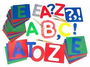 Les Pinceaux pochoirs Grand Alphabet Majuscules Lot de 27 de la marque Major Brushes image 0 produit