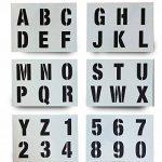Lettrage Pochoir Big numéros de lettres de l'alphabet 50mm de haut 5cm moderne Capitales sur 6feuilles de 200x 148mm de la marque Dovetails image 1 produit