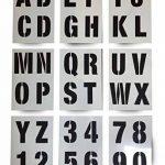 Lettrage Pochoir lettres de l'alphabet/chiffres 100mm de haut (10,2cm) Très grande moderne Capitales sur 9feuilles de 295x 200mm de la marque Dovetails image 1 produit