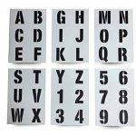 Lettrage Pochoir lettres de l'alphabet/numéros 70mm (7cm) de haut Grande moderne Capitales sur 6feuilles de 295x 200mm de la marque Dovetails image 1 produit
