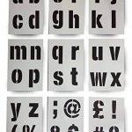 Lettrage Pochoir lettres de l'alphabet/symboles 100mm de haut (10,2cm) Très grande moderne la coque et des symboles sur 9feuilles de 295x 200mm de la marque Dovetails image 1 produit