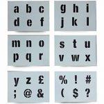 Lettres Pochoir lettres de l'alphabet/symboles 40mm de haut (4cm) sur feuilles 6x 200x 148mm moderne boîtier inférieur de la marque Dovetails image 1 produit