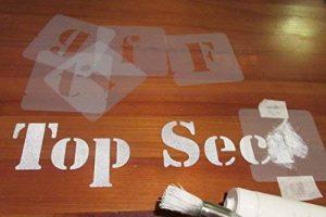 Lettres pochoirs de Police, tailles 40mm, 50mm, 75mm, 100mm, Plastique, 40 mm de la marque Artstencils image 0 produit