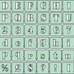 Lettres pochoirs de Police, tailles 40mm, 50mm, 75mm, 100mm, Plastique, 40 mm de la marque Artstencils image 1 produit