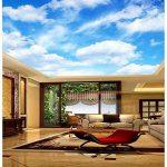 LHDLily Photo Haute Définition Grand Ciel Bleu Et Nuages Blancs 3D 3D Papier Peint Mural Plafond 150Cmx100Cm de la marque LHDLily image 2 produit
