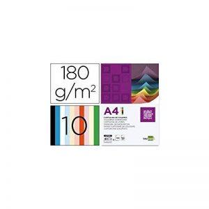 Liderpapel 937332 Papier Cartonné A4 180g/m2 10 Lot de 100 Crème de la marque Liderpapel image 0 produit