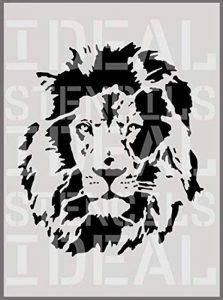 Lion façade pochoir décoration murale art Artisanat Peinture Pochoir - M- 25X29CM de la marque Ideal Stencils image 0 produit