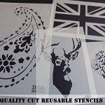 Lion façade pochoir décoration murale art Artisanat Peinture Pochoir - M- 25X29CM de la marque Ideal Stencils image 1 produit