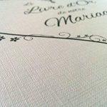Livre d'or Mariage cœur blanc effet toilé - Fabriqué en France - LDTMBC de la marque LODAFON image 3 produit