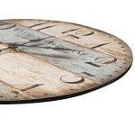 LOHAS Home 30cm Vintage Horloge murale rustique, silencieuse en bois cadran horloge minuteur pour la maison Salon Chambre Bureau Café Bar Decor (Victor Hugo) de la marque LOHAS Home image 2 produit