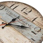 LOHAS Home 30cm Vintage Horloge murale rustique, silencieuse en bois cadran horloge minuteur pour la maison Salon Chambre Bureau Café Bar Decor (Victor Hugo) de la marque LOHAS Home image 3 produit