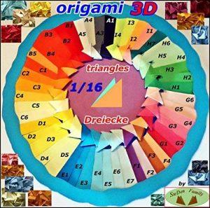 LOT 300 TRIANGLES ORIGAMI 3D 1/16 de la marque STEDEN FAMILY image 0 produit