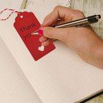 Lot de 100 étiquettes-cadeau rouges Zealor en papier kraft avec ficelle, parfaites pour les mariages et la Saint Valentin de la marque Zealor image 3 produit