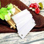 Lot de 100étiquettes en papier kraft avec ficelle Craft Étiquettes Cadeau Mini Taille 7cm x 2cm Brun Étiquettes de mariage avec 30m de ficelle en jute blanc de la marque jijAcraft image 4 produit