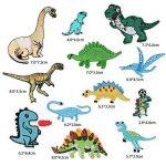 Lot de 12Dinosaures Patch patchs à Animal pour vêtements à repasser ou à coudre Correctifs brodée Motif appliqué de la marque MIWIND image 1 produit
