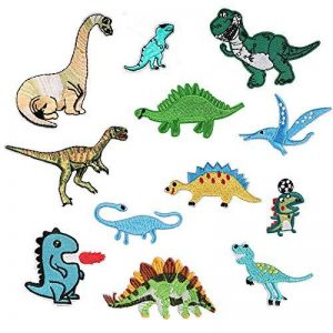 Lot de 12Dinosaures Patch patchs à Animal pour vêtements à repasser ou à coudre Correctifs brodée Motif appliqué de la marque MIWIND image 0 produit
