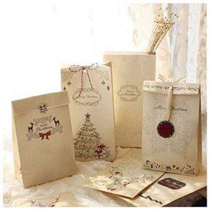 Lot De 12 sacs-cadeaux de Noël Papier kraft Pochette Noël Cadeau Sac Noël 12 x 6 x 22 cm Mariage Anniversaire Fete de la marque MARFORT image 0 produit