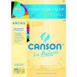 Lot de 2 pochettes Canson A3 : Papier à DessinC Grain Blanc + Papier à Dessin Couleur Mi-Teintes Vives + 1 Règle en Bois Chat Blumie de la marque Blumie Shop image 2 produit