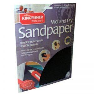 Lot de 20feuilles de papier abrasif de qualité premium Wet & Dry de la marque Kingfisher image 0 produit