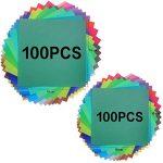 Lot de 200feuilles de papier origami 2tailles, 50couleurs vives recto pour travaux manuels, lot de 100yeux mobiles de la marque Sunerly image 3 produit