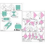 Lot de 200feuilles de papier origami 2tailles, 50couleurs vives recto pour travaux manuels, lot de 100yeux mobiles de la marque Sunerly image 6 produit