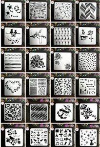 Lot de 24 pochoirs pour le dessin, le bricolage, la peinture-Juuly de la marque Juuly image 0 produit