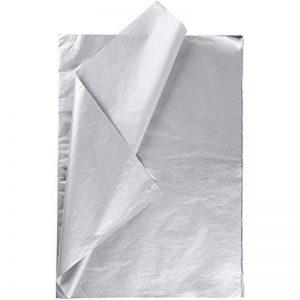 Lot de 25 feuilles de papier de soie à découper Creavvee® - 50x 75cm - Plusieurs couleurs disponibles-, g-Silber 25 Blatt, - de la marque CREAVVEE® image 0 produit