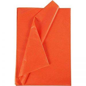 Lot de 25 feuilles de papier de soie à découper Creavvee® - 50x 75cm - Plusieurs couleurs disponibles-, m-Orange 25 Blatt, - de la marque CREAVVEE® image 0 produit