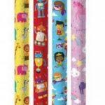 Lot de 4 feuilles de Papier cadeau pour enfant Motif princesse/indiens &chevaux/Lion/singe de la marque Swoosh Supplies image 1 produit