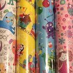 Lot de 4 feuilles de Papier cadeau pour enfant Motif princesse/indiens &chevaux/Lion/singe de la marque Swoosh Supplies image 2 produit