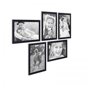 Lot de 5 cadres 21x30 cm / DIN A4 Photolini Collection Basique Moderne Noir en MDF comprenant accessoires / collage de photos / galerie d'images / Multi cadre photo mural de la marque Photolini image 0 produit