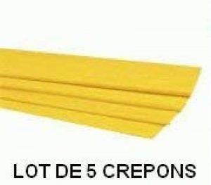 LOT DE 5 PAPIER CREPON JAUNE 50x200 de la marque TOCADIS CREATIF image 0 produit