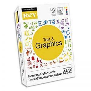 Lot de 5 Ramettes 500 feuilles papier TEXT & GRAPHICS A4 80g CIE 170 haute blancheur très satiné de la marque Visiodirect image 0 produit