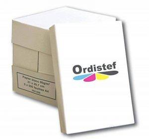 Lot de 5 Ramettes de 500 feuilles papier blanc 80 g A4 de la marque ORDISTEF image 0 produit