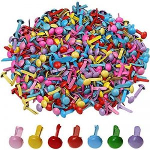 Lot de 500mini attaches parisiennes, 0,8cmx0,5cm, rondes, pastel, multicolores, papier craft, albums, artisanat de la marque borte image 0 produit