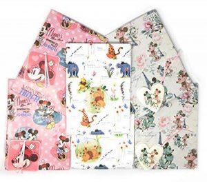 Lot de 6–2x 3designs disney Character feuilles de papier cadeau et étiquettes de la marque Disney image 0 produit