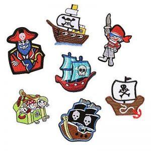 Lot de 7patchs thermocollants ou à coudre - Motifs : Pirates - Pour vêtements, jeans, sacs à dos, écharpes, T-shirts - Pour hommes de la marque MIWIND image 0 produit