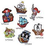 Lot de 7patchs thermocollants ou à coudre - Motifs : Pirates - Pour vêtements, jeans, sacs à dos, écharpes, T-shirts - Pour hommes de la marque MIWIND image 1 produit