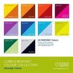 Lot de Papier pour Origami 100feuilles | Complementary Colour Collection de la marque Folded Square Origami image 2 produit