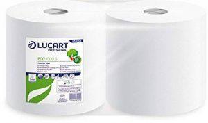 LUCART Professional ECOLUCART Eco 1000S CHEV -2 Bobines Blanc de 1000 Feuilles Bobine à dévidage central certifiée Ecolabel, et certifiée contact alimentaire100% papier recyclé -2 épaisseurs (Pack de 2) de la marque Lucart Professional image 0 produit