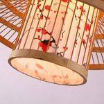 LUCKY-CN Bambou Art Pendentif Lampe Parchemin Impression À La Main Bambou Plafond Lumières Chinois Vintage Pendentif Lumières de la marque LUCKY-CN image 6 produit