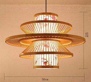LUCKY-CN Bambou Art Pendentif Lampe Parchemin Impression À La Main Bambou Plafond Lumières Chinois Vintage Pendentif Lumières de la marque LUCKY-CN image 0 produit