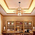 LUCKY-CN Bambou Art Pendentif Lampe Parchemin Impression À La Main Bambou Plafond Lumières Chinois Vintage Pendentif Lumières de la marque LUCKY-CN image 1 produit