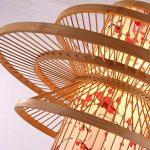 LUCKY-CN Bambou Art Pendentif Lampe Parchemin Impression À La Main Bambou Plafond Lumières Chinois Vintage Pendentif Lumières de la marque LUCKY-CN image 4 produit