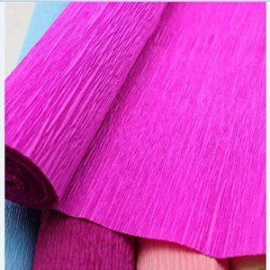 Lugii Cube papier crépon fleuriste Cadeau Craft Magnifique Bouquet Décoration DIY Wrapper Rouleau, violet de la marque LanLan image 0 produit
