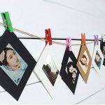 LULUNA Cadre photo carton 10 PCS Set bricolage cadres suspendus de papier kraft pour les photos décoration de la maison, 3 couleurs combiner de la marque LULUNA image 2 produit