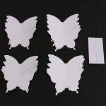 Luxbon Carton 3D Papillon Autocollant Bricolage avec Collant Double-Face Blanc 100pcs de la marque Luxbon image 2 produit