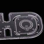 MagiDeal 1pièce Modèle Pochoir Couture Coin du Cercle Maroquinerie Coupe - Acrylique Transparent - 3,38 mm de la marque MagiDeal image 4 produit