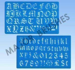 Major Brushes Pochoir écriture et lettrage Lettres de l'alphabet Style anglais ancien 30mm de la marque Major Brushes image 0 produit