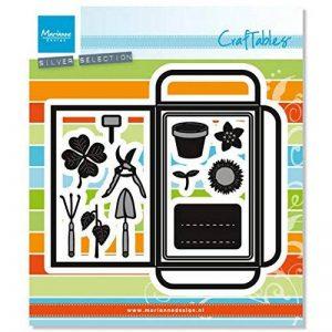Marianne Design CR1395 Graines de poche et outils de jardin Matrice de Découpe Métal Gris 17,5 x 15 x 0,5 cm de la marque Marianne Design image 0 produit
